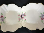 Tuscan china Pale pink Art Deco serving plates x 2